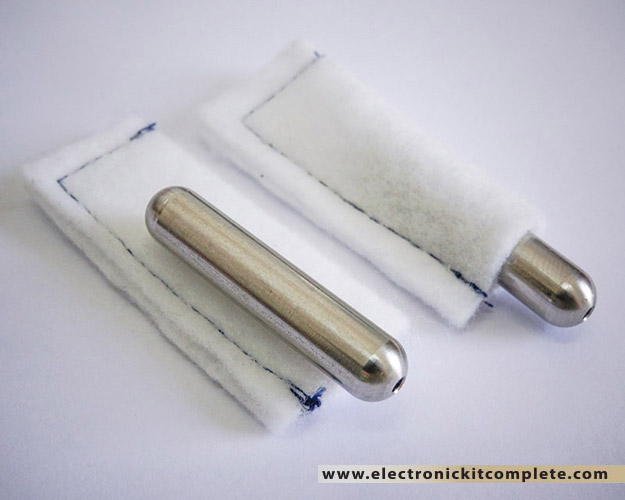 Stainless steel electrodes with cotton sleeves
